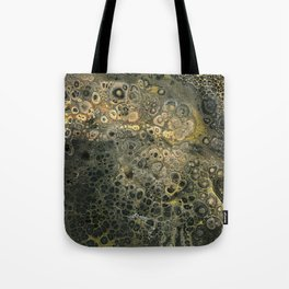 Fluid Black And Gold Acrylic Pour Painting Tote Bag