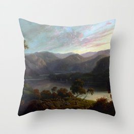John Glover Landscape View in Cumberland Throw Pillow
