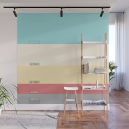 Palette color Cotton candy Wall Mural
