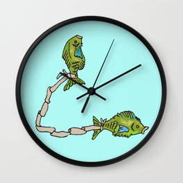 Pisces, the fishes Wall Clock
