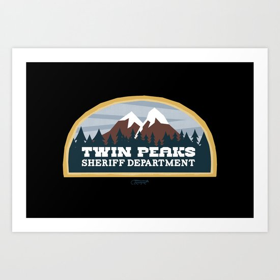 Twin Peaks Sheriff Department (Redux) Art Print
