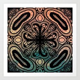 Interlock: color Art Print