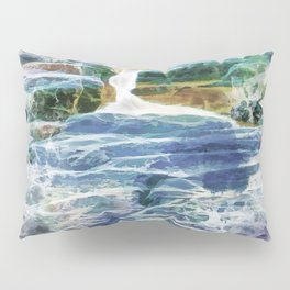 Abstract rock pool in the rough rocks Pillow Sham