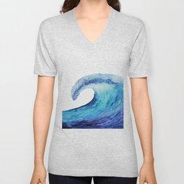 Ocean tsunami wave Unisex V-Neck