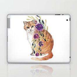 cat with flower boa Laptop & iPad Skin