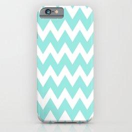 Blue Tiffany Chevron iPhone Case
