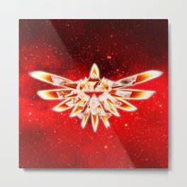 Zelda Red Nebula Metal Print
