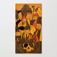 goonies Canvas Prints featuring The Goonies by Ale Giorgini