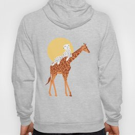 Giraffe, leopard and sun Hoody