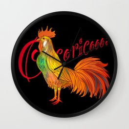 Cocorico 1 Wall Clock