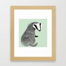 Adorable Badger ( Meles meles ) Framed Art Print