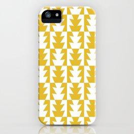 Art Deco Jagged Edge Pattern Mustard Yellow iPhone Case