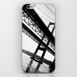 a bridge over troubled waters iPhone Skin