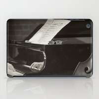 music notes iPad Cases featuring Grand Piano and Music Notes by cinema4design