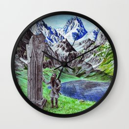 Durin's Stone Wall Clock