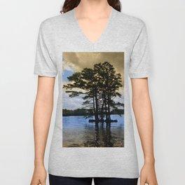 Cypress Trees Unisex V-Neck