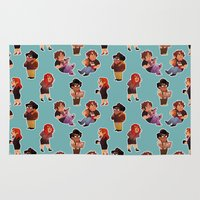 it crowd Area & Throw Rugs featuring IT Crowd by SIINS