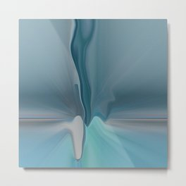Melting Sea Glass Abstract Metal Print