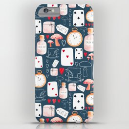 Alice in Wonderland - Indigo madness iPhone Case
