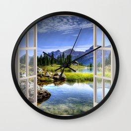 Beautiful Lake | OPEN WINDOW ART Wall Clock