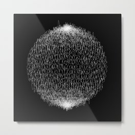 Abstract scribble circle banner. Metal Print