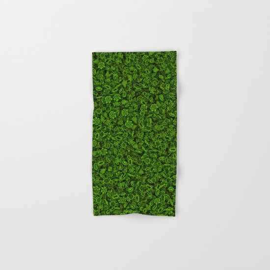 Green micropets Hand & Bath Towel