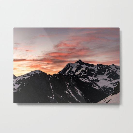 Pink Sky - Cascade Mountains Metal Print