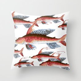 School Over Crowding Throw Pillow