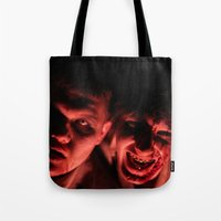 zombies Tote Bags featuring Zombies! by Justin White