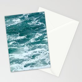 Deep Blue Ocean Waves Stationery Cards