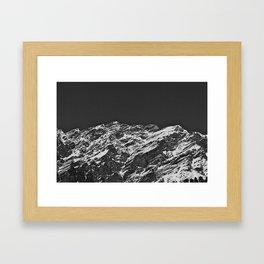 Monochromatic Mountains Framed Art Print