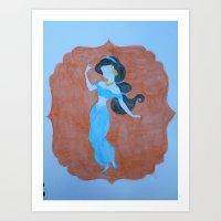 """jasmine Art Prints featuring """"Jasmine"""" by Lizzy Chmielecki"""