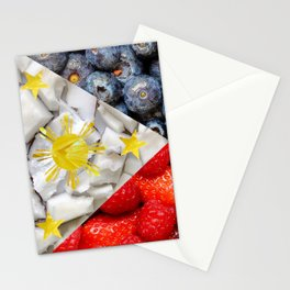 Healthy Philippines Flag Stationery Cards