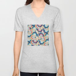 Modern geometric abstract pattern Unisex V-Neck