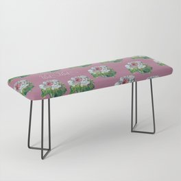 PINK AND WHITE FLOWER Bench