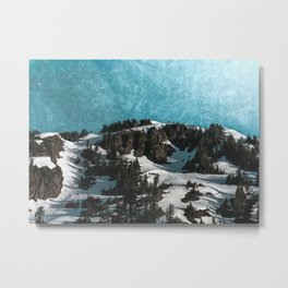 Mountain Morning Dew Metal Print