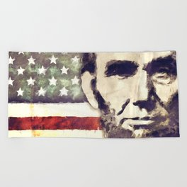 Patriot President Abraham Lincoln Beach Towel