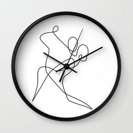 minimal line dance Wall Clock