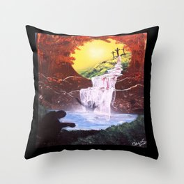 Washed Clean Throw Pillow