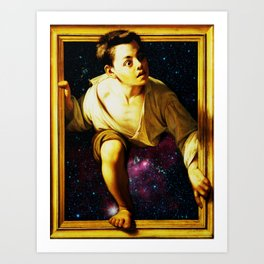 Escaping Space Art Print