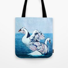 Swan Blues Tote Bag