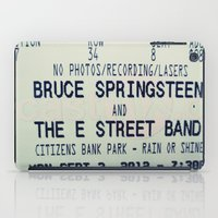 bruce springsteen iPad Cases featuring Bruce Springsteen & the E Street Band: Rain or Shine by Christine Leanne