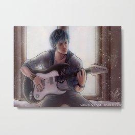 Luka - Blue Metal Print