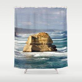 Key hole Rock Shower Curtain