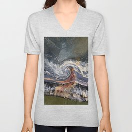The Wave Etched in Stone Unisex V-Neck