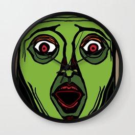 Fright Face Wall Clock
