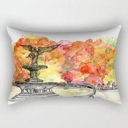 Central Park: Bethesda Fountain Rectangular Pillow