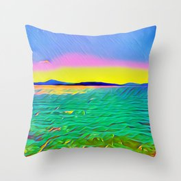 Benicia Pier Throw Pillow