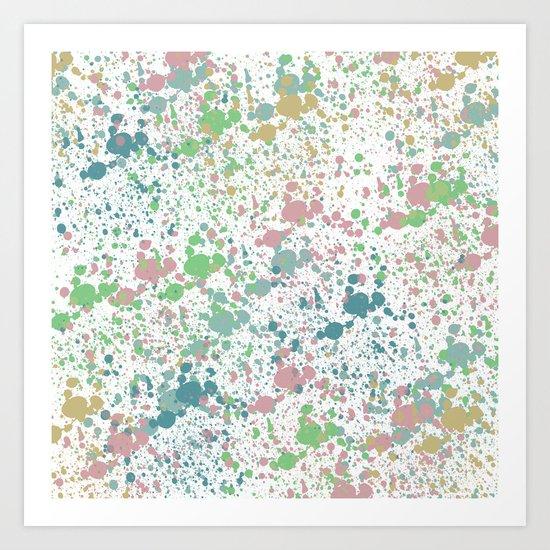 Paint Splatter Mix Art Print
