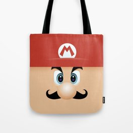 Mario With Cool Mustache Tote Bag